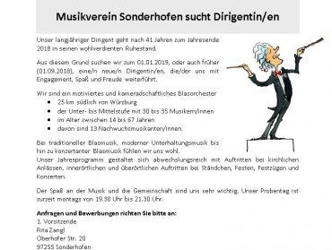 Neuer Dirigent/in gesucht!
