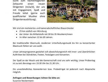 Musikverein sucht Dirigenten